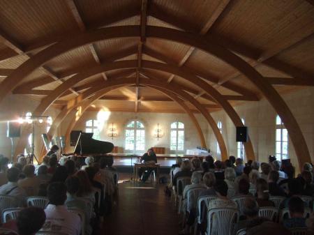 Benoît Delbecq, Claude Chambard, concert château d'Abzac