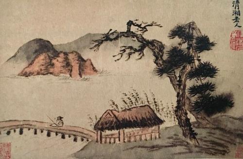 wnag wei,séjour dans la montagne,décrivant ce qui se passe,le plein du vide,shitao,recherche d'immortels,moundarren
